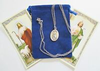 Wonderful St. Jude Saint Medal With 24 Inch Necklace