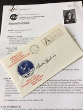 """Signed Apollo 11 Cover """"Linda M Godwin"""" With Official Biographical Data"""