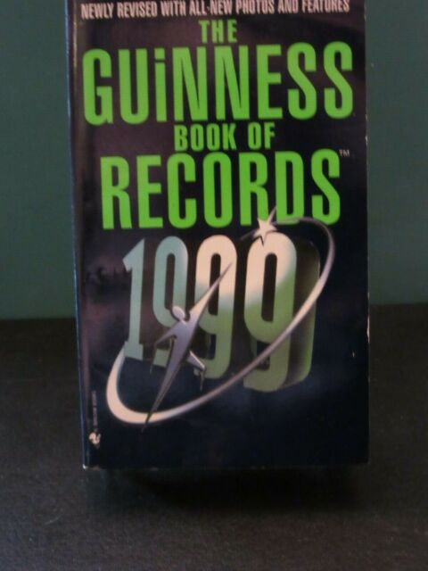 THE GUINNESS BOOK OF WORLD RECORDS 19999 PAPERBACK 0-553-58075-2 EUC