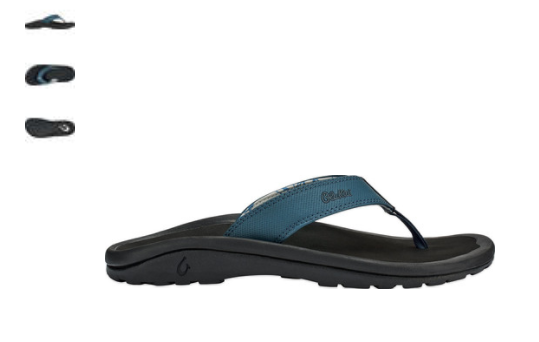 Olukai Ohana Orageux Bleu Noir Tongs Confort Sandale Homme Tailles 8-18   Neuf