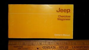 1985-JEEP-Wagoneer-Original-Owners-Manual-Excellent-Condition-US