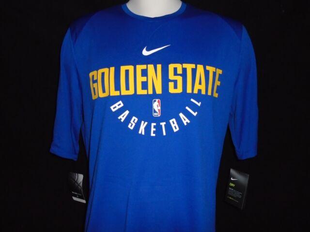 3a32f7b207c0 Nike Dry NBA Golden State Warriors Practice Jersey Shirt Mens Sz XL 877532  495