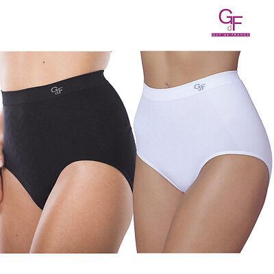 52016 Black or White Guy de France Daphne No Side Seam Shorts Briefs BNWT