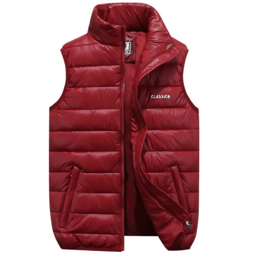 Men Winter Warm Down Cotton Pad Sleeveless Jacket Vest Waistcoat Parka Coat Tops
