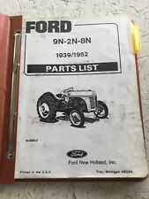 Ford 9n 2n 8n Tractor Parts Catalog Manual