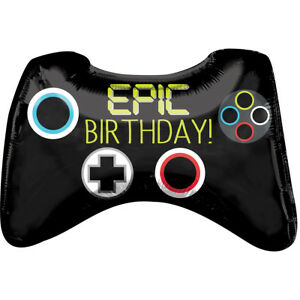 Epic Game Controller Happy Birthday Gamer Gift Party Decoration 28