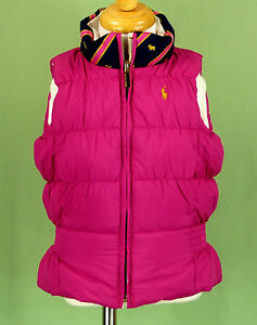 221 Ralph Lauren girl reversible pink white puffer down ...