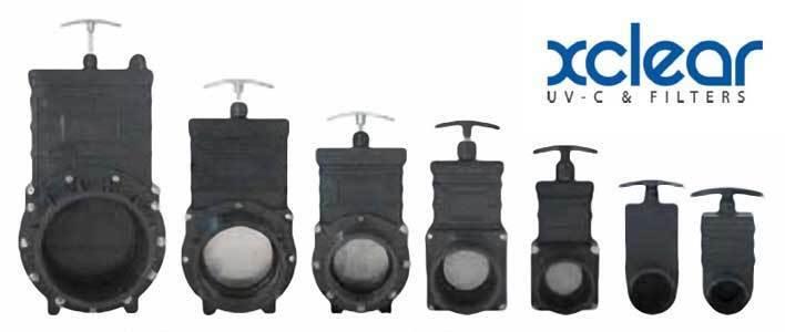 Original Aquaforte Qualitäts PVC Zugschieber Teich Größen von 40 mm bis 160 mm