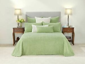 Bianca-Chelsea-Celadon-Cotton-Chenille-Light-Green-Bedspread-Set