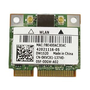 DELL WIRELESS 1520 PCIE WLAN CARD 802.11N DESCARGAR DRIVER