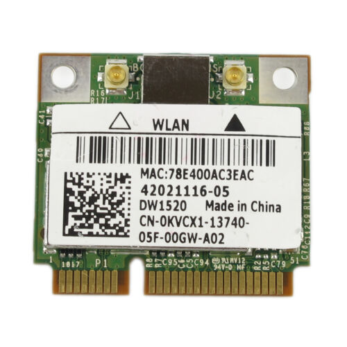 DELL DW1520 Wireless AGN Half MINI PCI-E Broadcom BCM943224HMS WIFI Card BCM4322