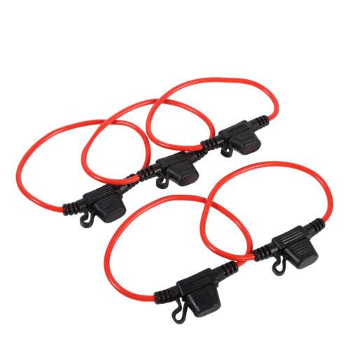 5 Pcs In Line Car Mini Blade Fuse Holder Splash-proof for 12V 30A Fuses