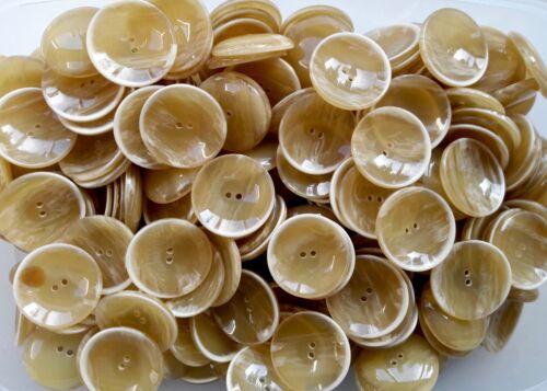 27mm 34mm Golden Cream Butterscotch Brush Effect 2 Hole  Buttons Q523A Q523B