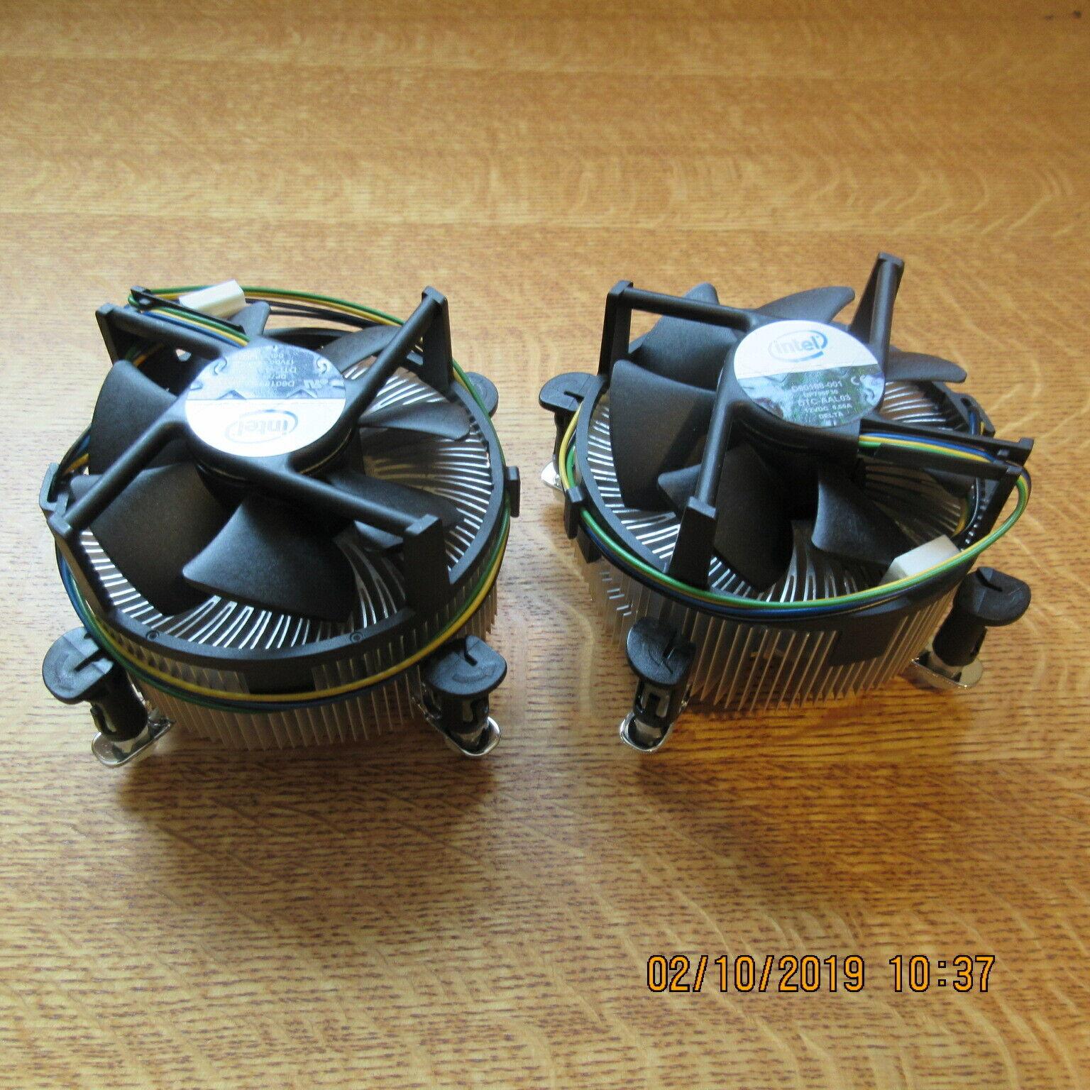 **NEW** Intel D60188-001 Socket LGA775 Copper Core CPU Heatsink and Fan Lot of 2