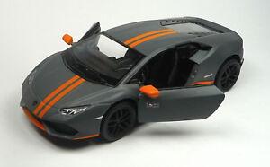 Nouveau-Lamborghini-Huracan-LP-610-4-Anthracite-Mat-Modele-de-collection-12-5-cm-Kinsmart