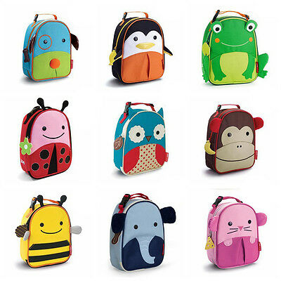 Embroidery Insulated Cooler Picnic Lunch Cartoon Canvas Bag for Kids