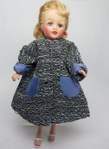 1950-039-s-Tweed-Lined-Custom-A-Line-Coat-fits-10-1-2-034-Fashion-Doll-LMR-Jill-Toni