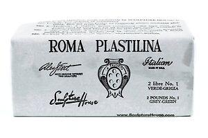 Roma-No-1-Sculpture-House-Roma-Plastalina-Modeling-Clay-Grey-Green-2lb-Soft