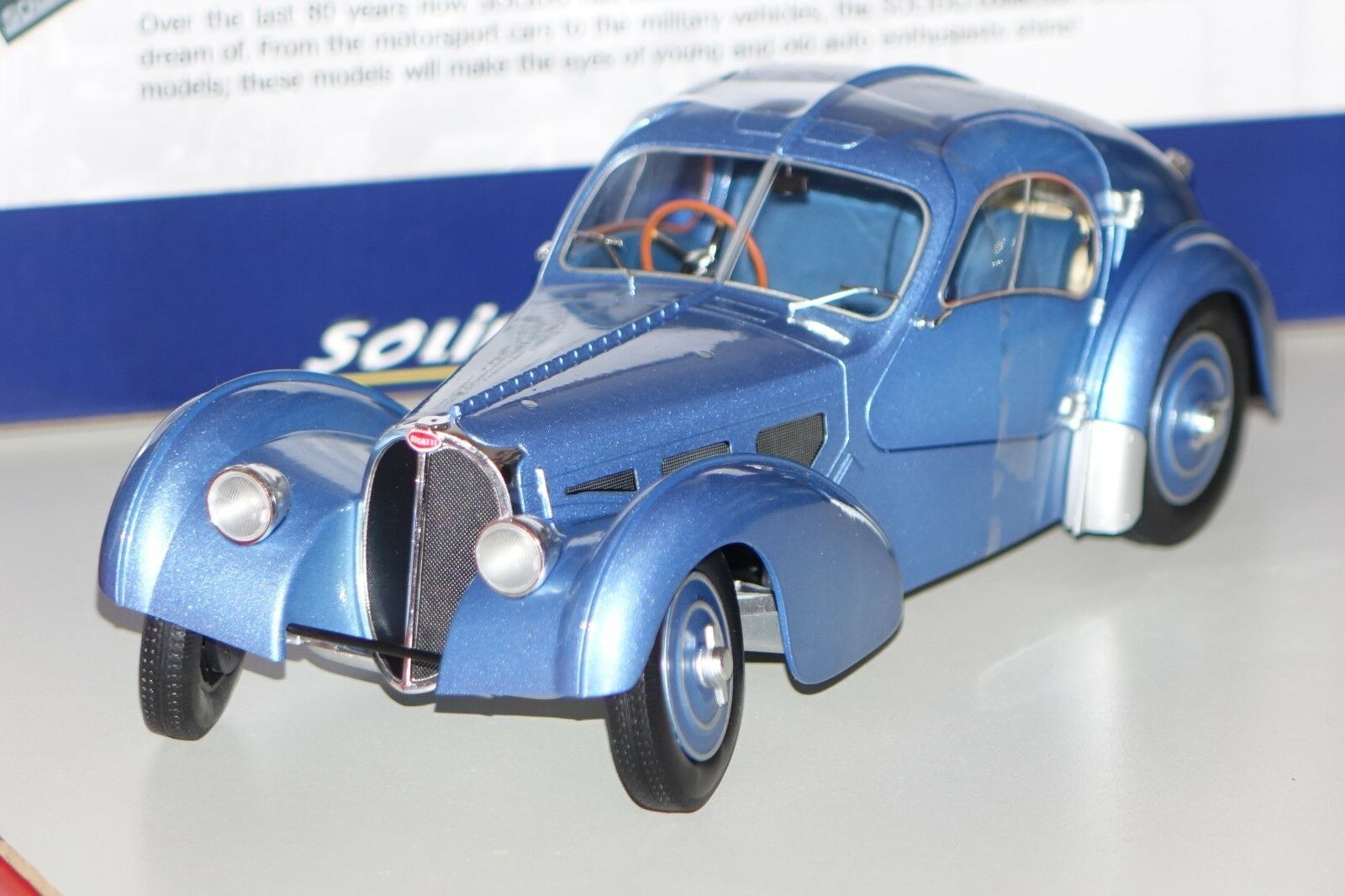 Bugatti Type 57 SC Atlantic Blu 1 18 solido 1802102 NUOVO & OVP