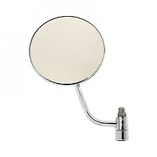 Volkswagen New Chrome Side View Round Miror Left Type 1 1953-1967 Beetle