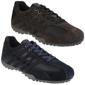 4b1bcbeda82d Geox Snake Trainers Mens cushioned Lace Up Suede Shoes UK 6.5-10.5 ...