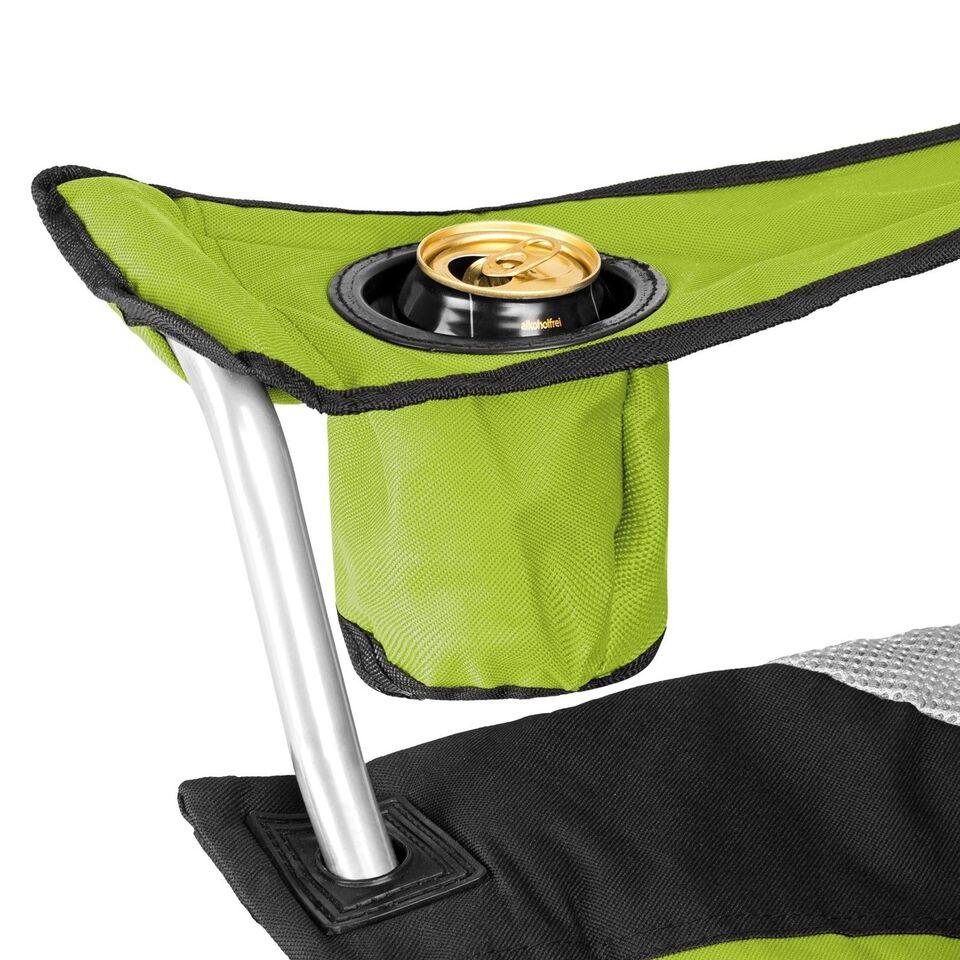 Polstret campingstol grøn