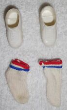 """Vintage SHINDANA 1976 Shoes & Socks for 9.5"""" DR J JULIUS ERVING Action Figure"""