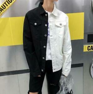 Men-039-s-Long-Sleeve-Fashion-Lapel-Denim-Shirt-Jacket-Loose-Casual-Coat-Tops-Vogue