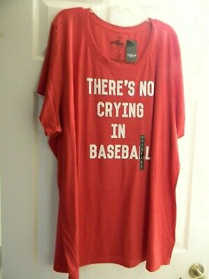 Junior There/'s No Crying In Baseball Sports TV Movie Funny Humor DT T-Shirt Tee