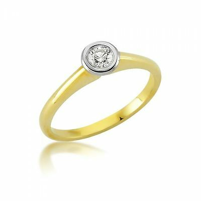 Solitär Damenring 333er Gold Zirkonia Ring Damen Verlobungsring Schmuck Diversified In Packaging Jewelry & Watches Fine Rings
