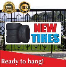 New Tires Banner Vinyl Mesh Banner Sign Auto Repair Clearance Car Ac Service
