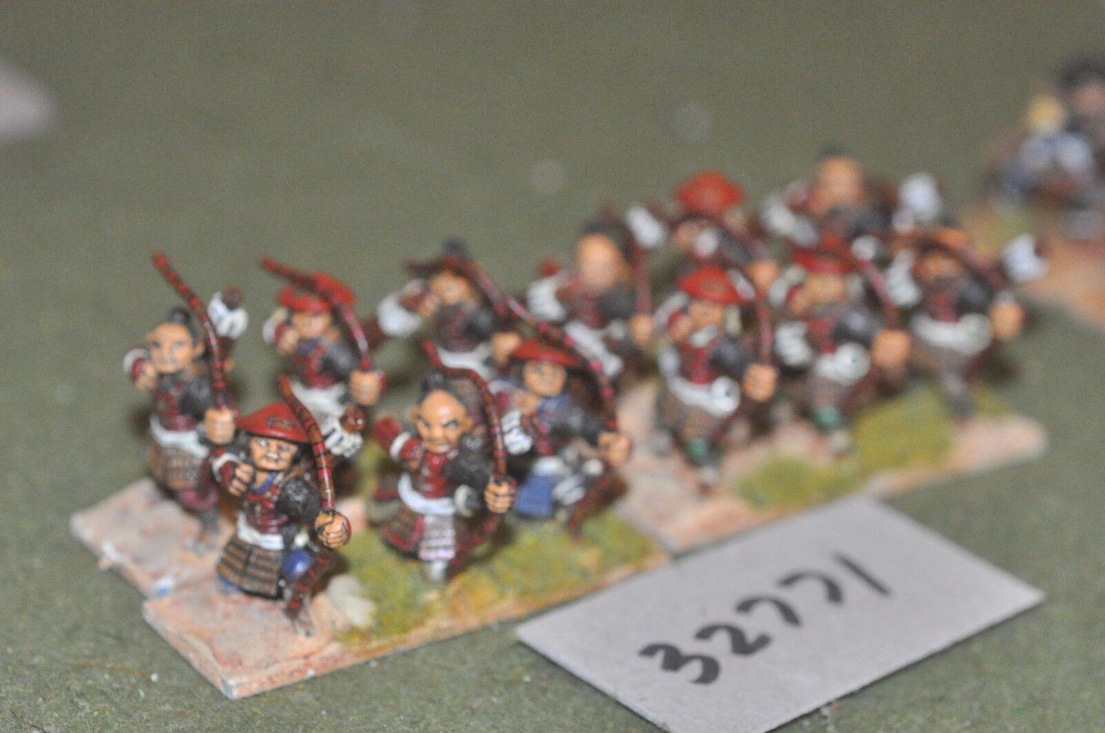 25mm renaissance   samurai - archers 12 figures - inf (32771)