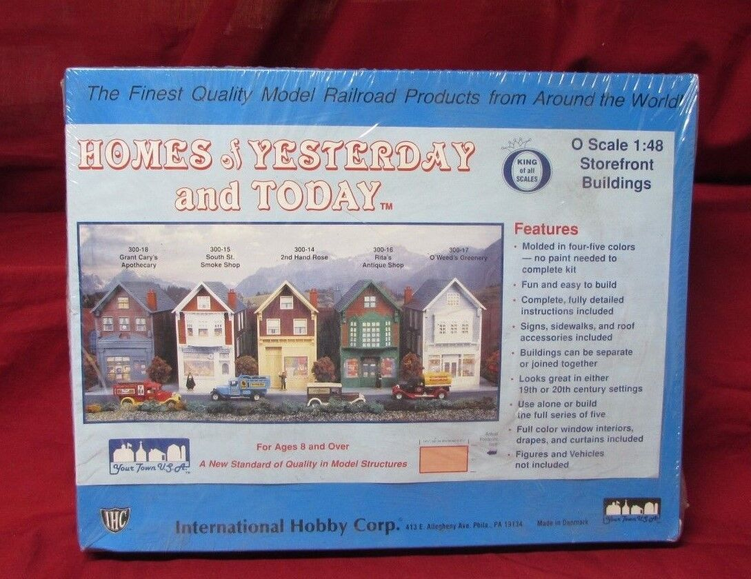 Homes of Yesterday and Today For Model Trains Layout O Gauge 1 48 NIB