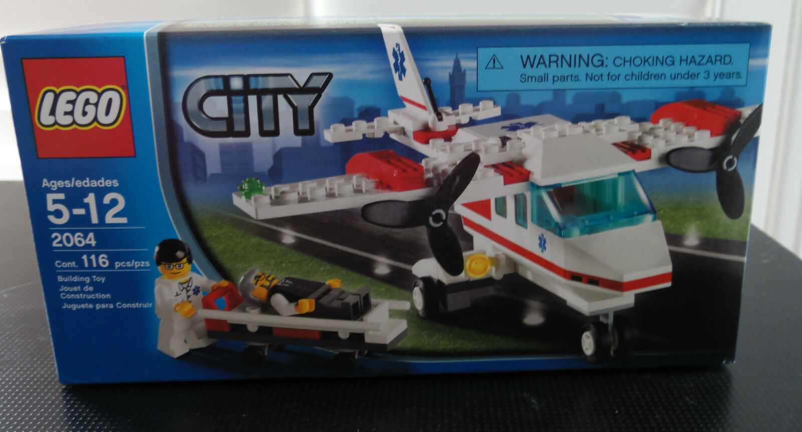 Lego Town City Hospital 2064 AIR AMBULANCE PLANE New Sealed