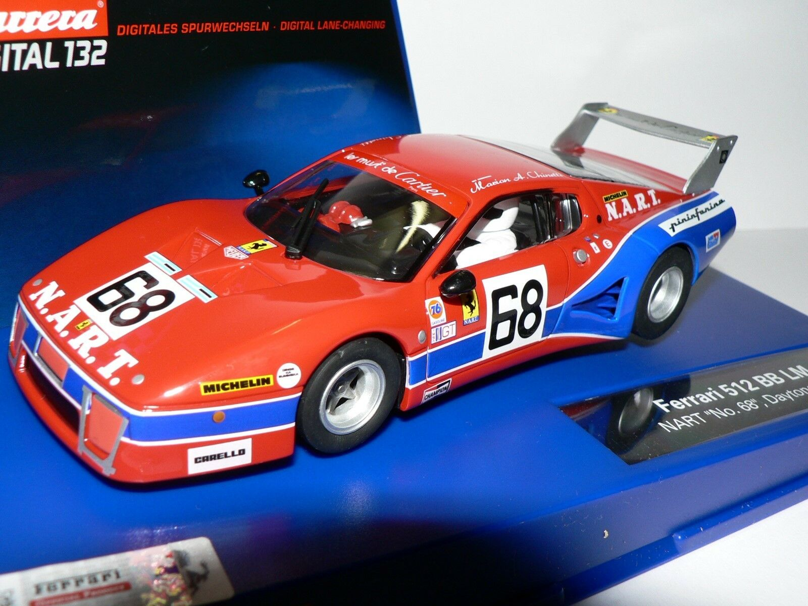 Carrera Digital132 30576 Ferrari 512 Bb Lm Nart No. 68 Daytona 1979 New
