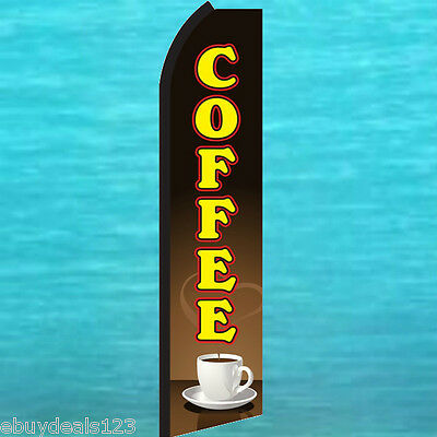 COFFEE SHOP 15/' Feather Swooper Bow Banner Ad Flag Kit