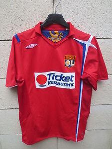 VINTAGE-Maillot-LYON-OLYMPIQUE-LYONNAIS-Umbro-2007-away-shirt-football-YXL-XS