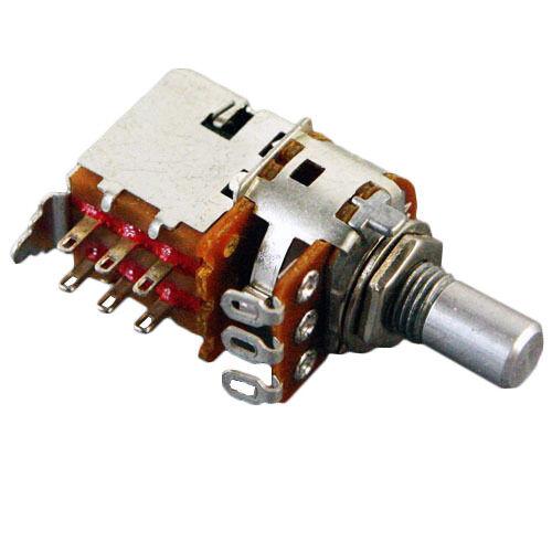 NEW 1KA 1K audio Alpha switched potentioemter pot DPDT w// 7mm bushing