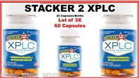Stacker 2 Xplc Herbal Dietary Supplement 20 Ct/bottle (lot Of 3x) = 60 Capsules