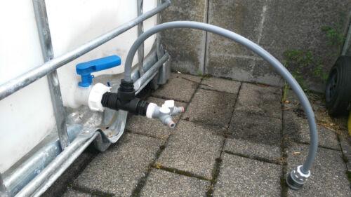 auslaufadapter con hahn para IBC-agua S196w13593ys2146 accesorios de jardín barril