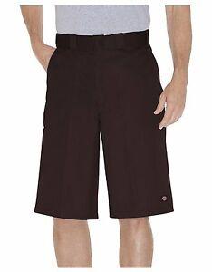 "Dickies Men's Dark Brown 13"" Multi-Pocket Pocket Loose Fit Work Shorts 42283"