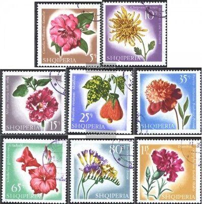 edición Completa Usado 1967 Flores Diversified In Packaging Generous Albania 1143-1150