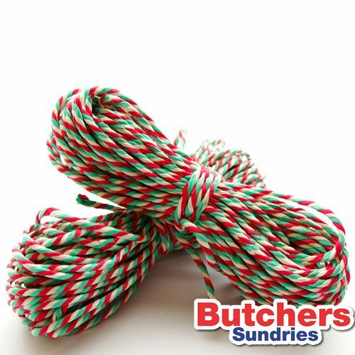 2 x 10m Christmas Candy Cane Twine for Decorations / Crafts / Gifts