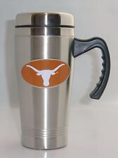 Texas Longhorns 14 oz Stainless Steel Travel Mug with Handle NCAA Licensed