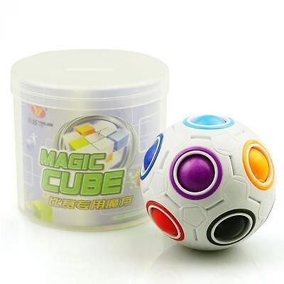 2017 HOT Magic Cube Würfel Ball Spielzeug Lernspielzeug Regenbogen Fußball