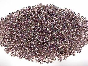 50g-4mm-6-0-Glass-Seed-Beads-LIGHT-PURPLE-Iridescent-AB