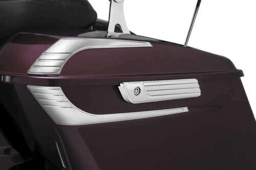 Kuryakyn 6986 Tri-Line Saddlebag Hinge Covers Chrome 14-16 FLH//FLT