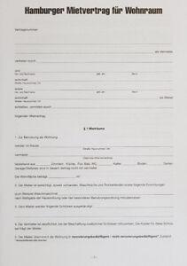 Hamburger Mietvertrag Für Wohnraum Mit Hausordnung 12 S Stand