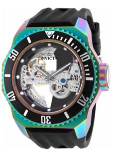 Invicta-Russian-Diver-Ghost-Mechanical-21-Jewels-52mm-Black-Men-039-s-Watch-25628