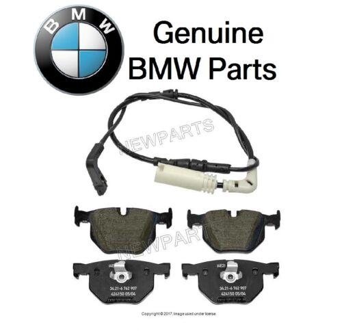 For BMW E60 525i 525Xi 530i Rear Brake Pad Set w// Sensor 750 mm Genuine